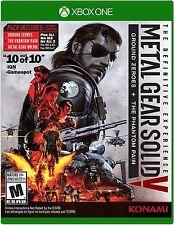 NEW Metal Gear Solid V 5: Definitive Edition (Microsoft Xbox One, 2016)