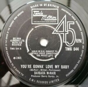"""BARBARA MCNAIR You're Gonna Love My Baby  **VERY RARE MOTOWN 7""""** Northern Soul"""