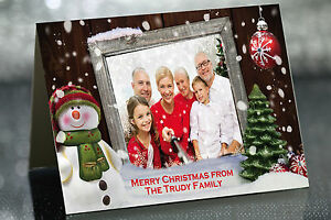 Red Elvis Presley Personnalisé Noël Carte de vœux