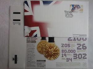 CANOE-BAILLIE-STOTT-LONDON-OLYMPICS-2012-FDC-3-8-2012-GOLD-RARE-NO-ADDRESS-NEW