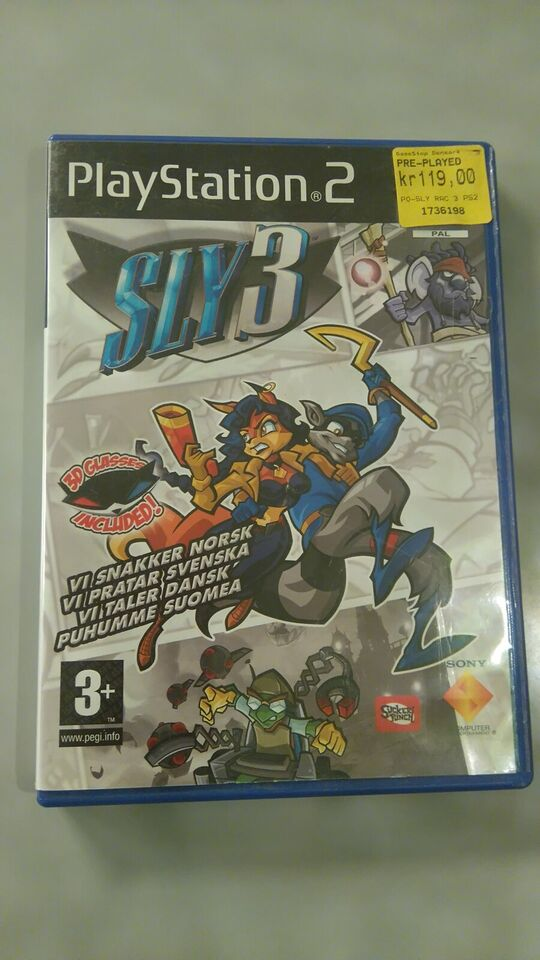 SLY 3, PS2, adventure
