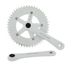 White Shun 48T Alloy 170 Single Speed Fixed Gear Track Fixie Crankset Crank Set