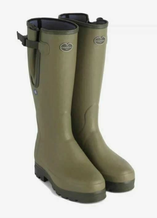 Le Chameau Men's Vierzonord Neoprene Plus Lined Wellington Boot Green-Green