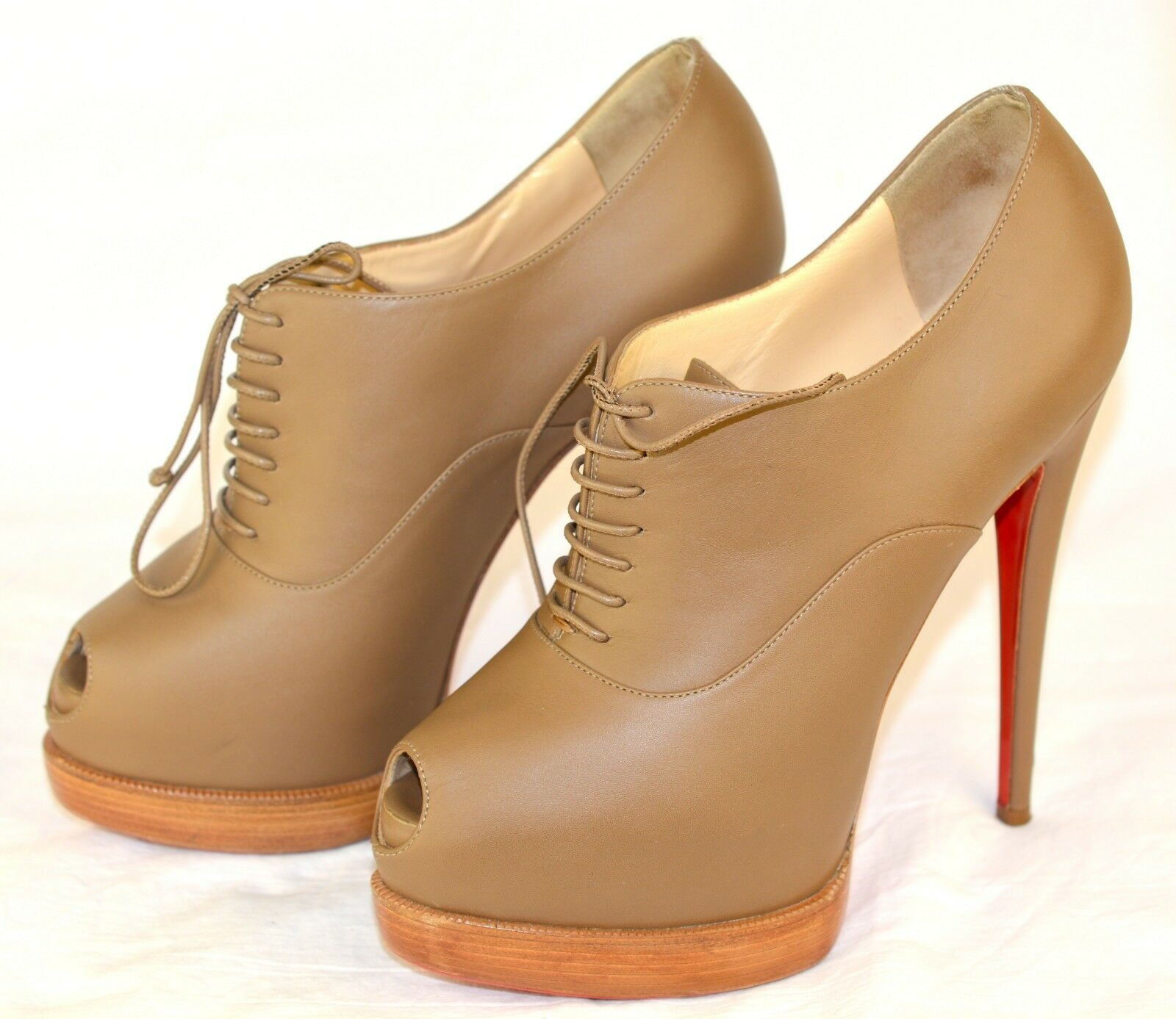 Christian Louboutin Miss Poppins 140 pelle brown Sz.37,5