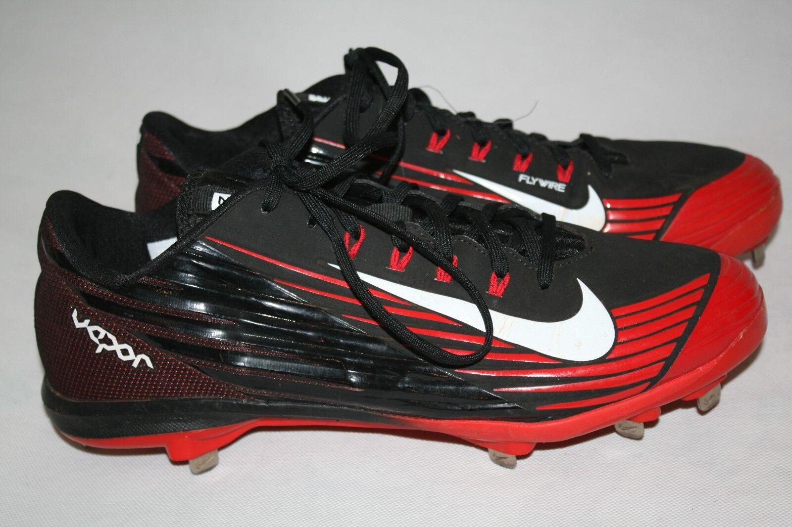 Nike Vapor BSBL Metal Cleats Lunarlon Flywire 683895-016 Mens Red Black Sz 11.5  Seasonal price cuts, discount benefits
