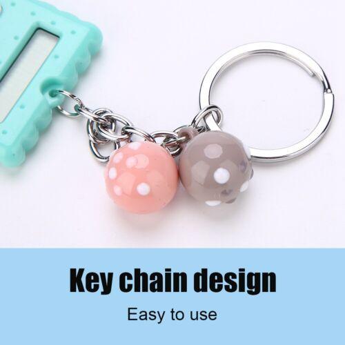 Mini 8 Digits Electronic Calculator Pocket Keychain Key Ring for School Office