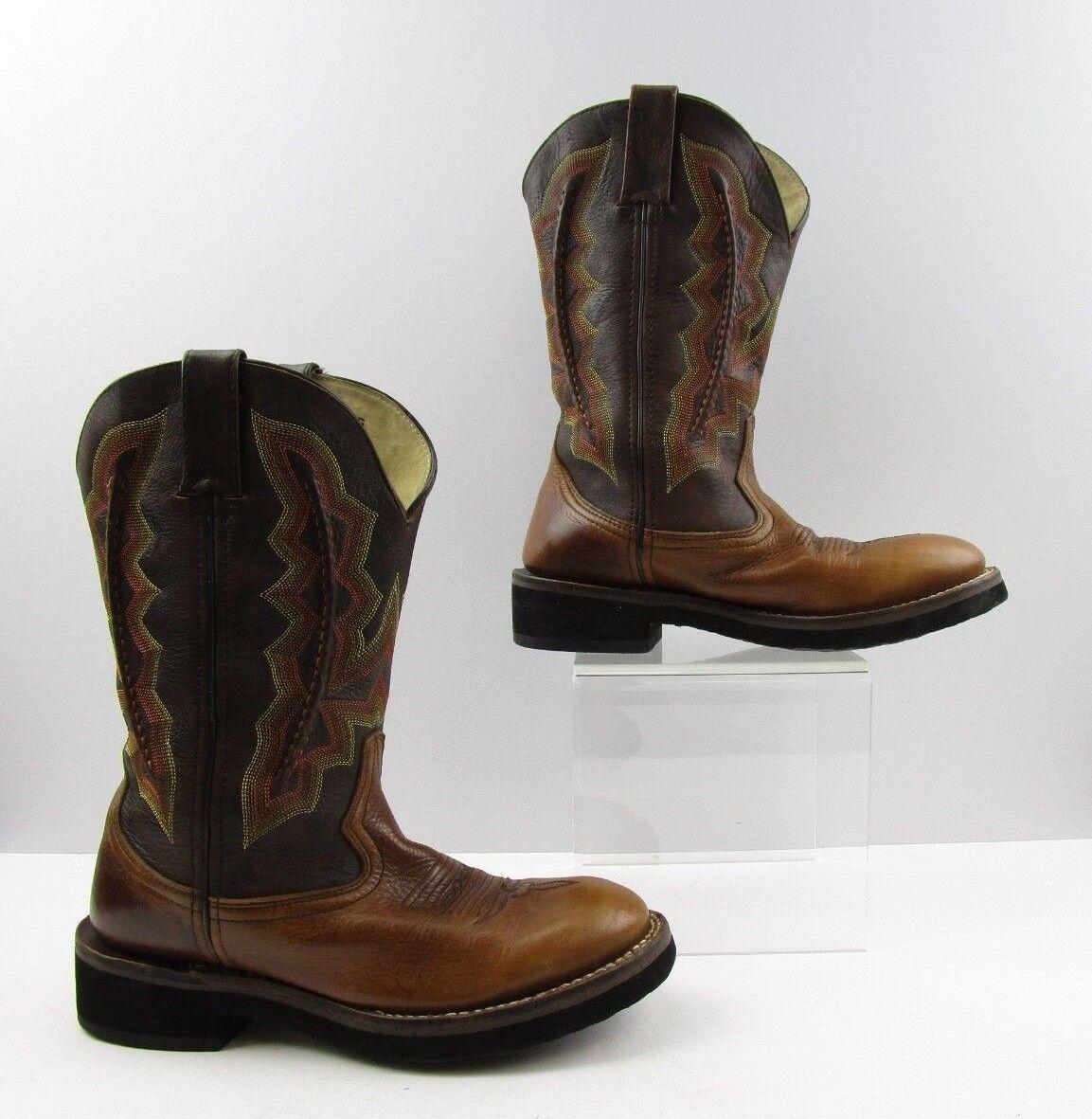 negozio d'offerta Ladies Durango Two Tone Marrone Leather Cowboy Western stivali stivali stivali Dimensione  7.5 M  prezzo più economico
