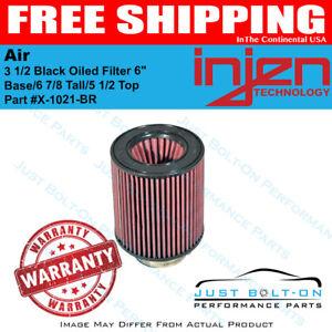 3 Black Filter 5 Base// 4 7//8 Tall Injen High Performance Air Filter X-1020-BR