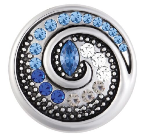 BUY 4 GET 5TH $6.95 SNAP FREE GINGER SNAP Jewelry BLUE TEMPEST SN10-65
