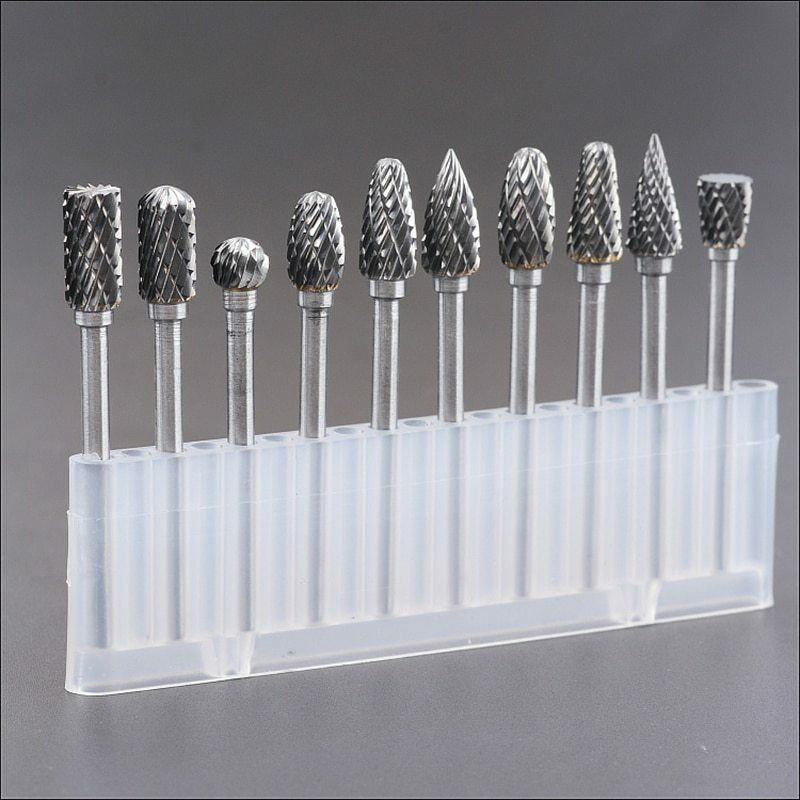 Tungsten carbide drill bits for metal burs tungstenio tools bit set cnc  mini
