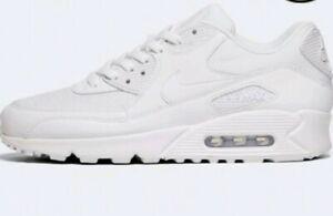 Détails sur Nike Air Max 90 Essential Triple Blanc UK 11.5 Baskets Homme 537384 111 Entièrement neuf dans sa boîte afficher le titre d'origine
