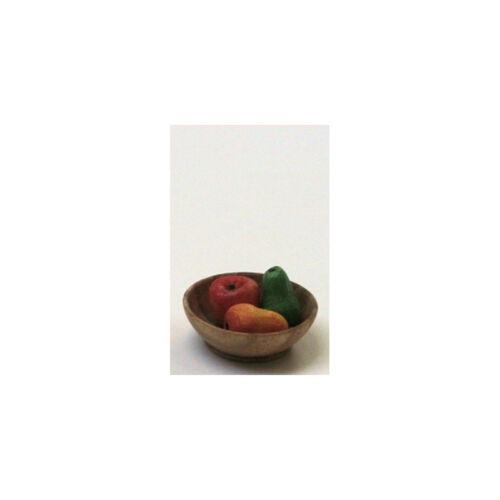 # Amor a mano 46084 cuenco de madera con frutas 3 1:12 casa de muñecas nuevo 0836