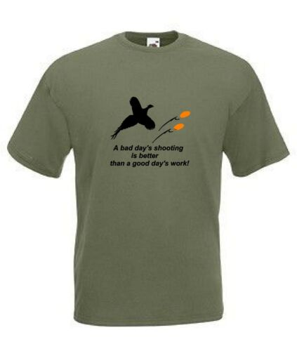 a bad days shooting is better than a good days work funny joke tee shirt