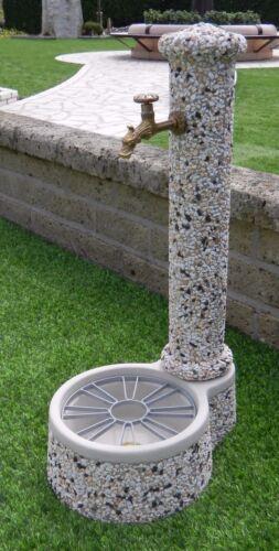 BONFANTE Fontana Fontanella da giardino cemento marmo CROCETTA Fantasia Lavato