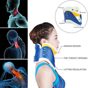 Medizin-Hals-Bandage-Wirbel-Nacken-Stuetze-Traktion-Fixierung-Halskrause-Einstell