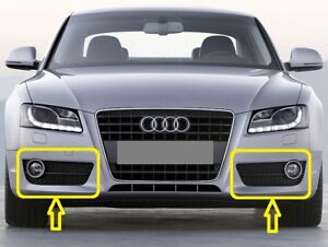 Genuine-Audi-A5-2008-2012-Juego-De-Parrilla-De-Luz-Antiniebla-Parachoques-delantero-izquierda