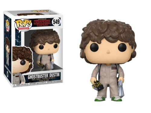 "Des choses bizarres Dustin Ghostbusters Costume 3.75/"" POP Vinyl Figure FUNKO 549"
