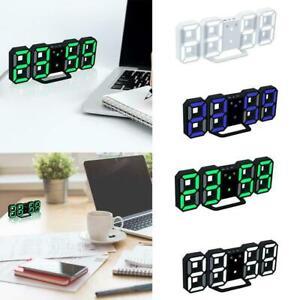 Smart-Digital-3D-White-LED-Wall-Clock-Alarm-Clock-Snooze-Display-12-24-USB-P9Y8