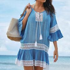 374f1b3d48d2c item 7 Women Lace Beach Dress Tunic Tassel Crochet Bathing Suit Cover up  Wrap Beachwear -Women Lace Beach Dress Tunic Tassel Crochet Bathing Suit  Cover up ...