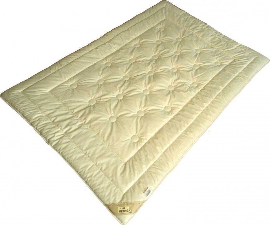 200 x 200 1200g Leichte Übergangszeit Steppbett KBT Merino KBA Bio Cotton Bezug