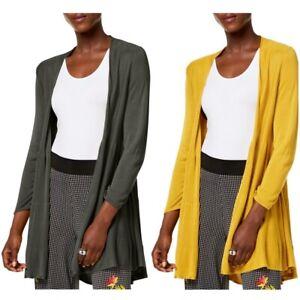 ALFANI-NEW-Women-039-s-Tiered-Open-Front-Cardigan-Sweater-Top-TEDO