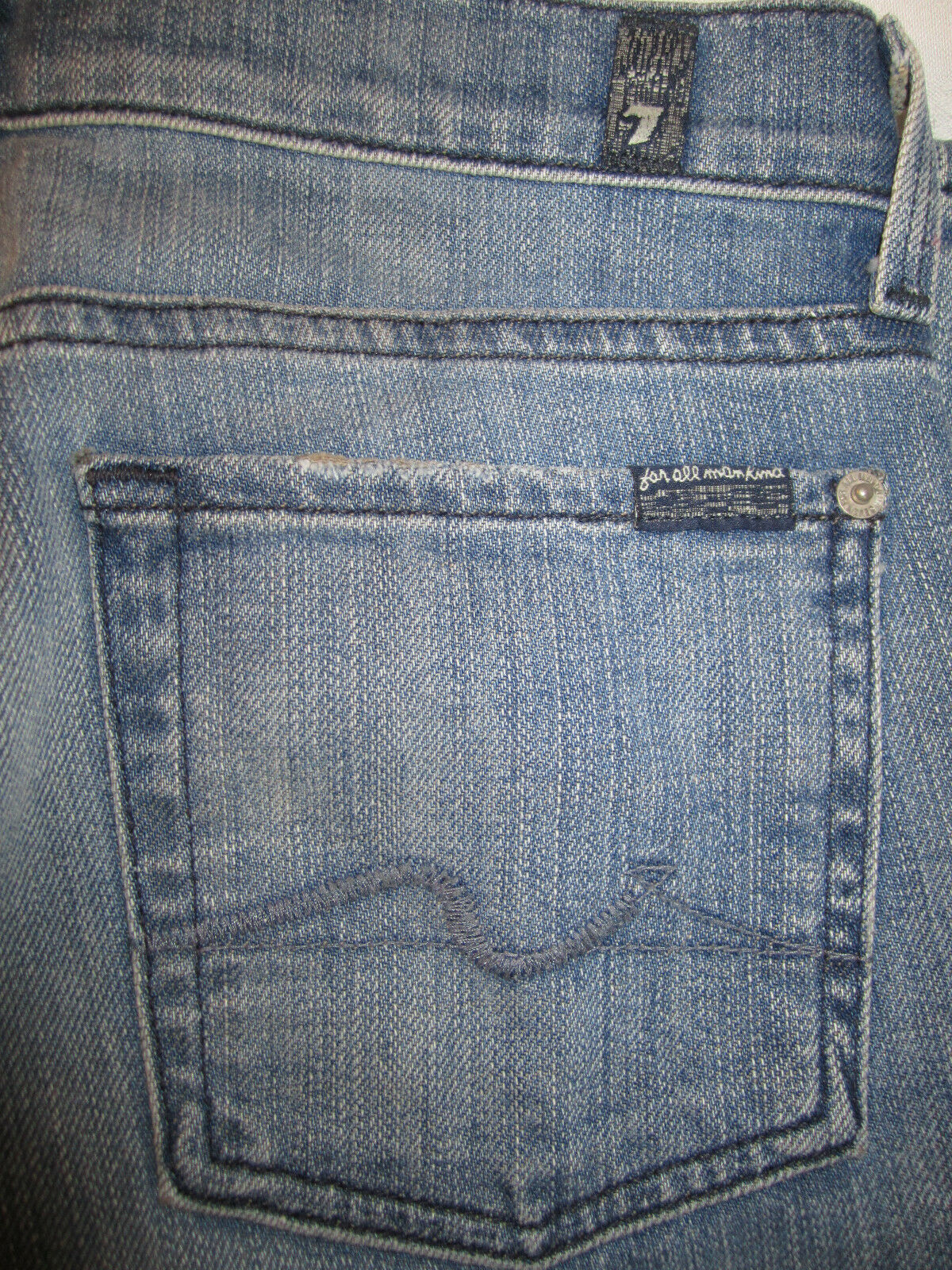 7FAM 7 for all Mankind Straight Leg Annapolis QC Jeans - Size 27 x 34 EUC