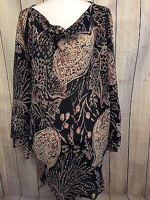Drape Cowl Neck Dolman Sleeve Handkerchief Loose Caftan Top 01 zz Shirt 1X 2X 3X