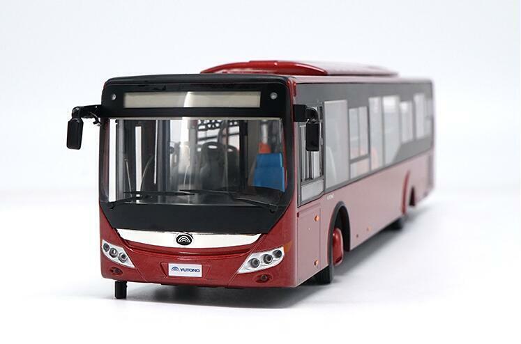 1 42 Zhengzhou YUTONG bus d'origine constructeur ZK6128 City Bus Alliage Modèle