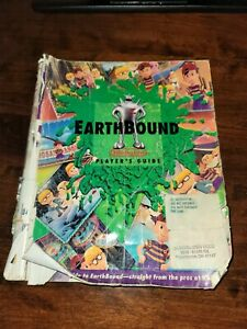 Earthbound-Snes-Super-Nintendo-Player-039-s-Guide-Only-Very-Rough-Condition