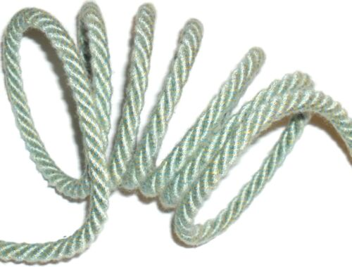 TOP QUALITY DUCK EGG GREEN//CREAM PIPING//EDGING ROPE 6MM CORD X2 MTRS ART 39.510