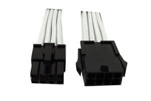Red CA-8P-04 Gelid 8 Pin to 8 Pin 12V EPS Single Sleeved UV-Reactive Cable