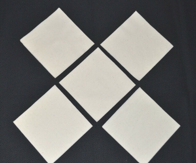 Fabric 100% COTTON  MUSLIN IN NATURAL/CREAM SHADE  8 x 8 Inch Squares  (20)