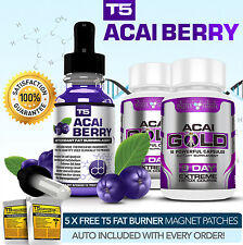 ACAI BERRY SERUM + ACAI GOLD DETOX- STRONGEST LEGAL ACAI SLIMMING / DIET PILLS
