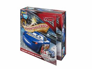 CALENDRIER DE LAVENT LIGHTNING MC QUEEN, KIT REVELL JUNIOR 1/20 n? 01012