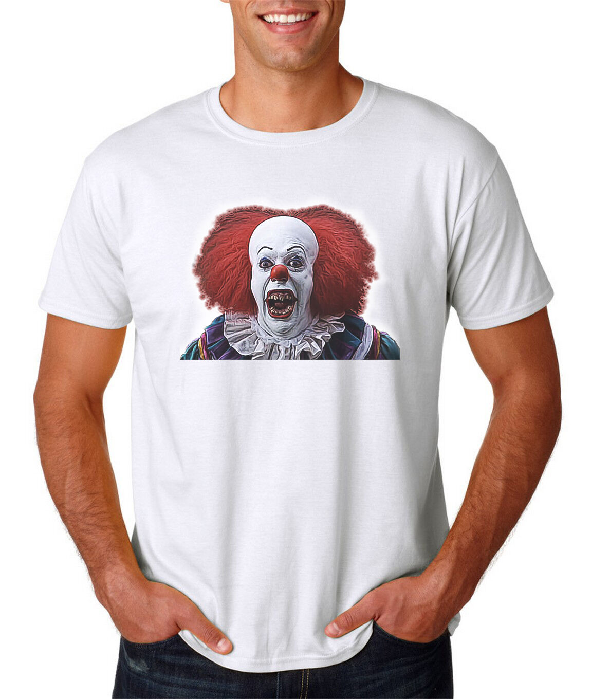 Pennywise ART T-Shirt - IT - Halloween Horror Freddy Chucky Jason Clown T-Shirt