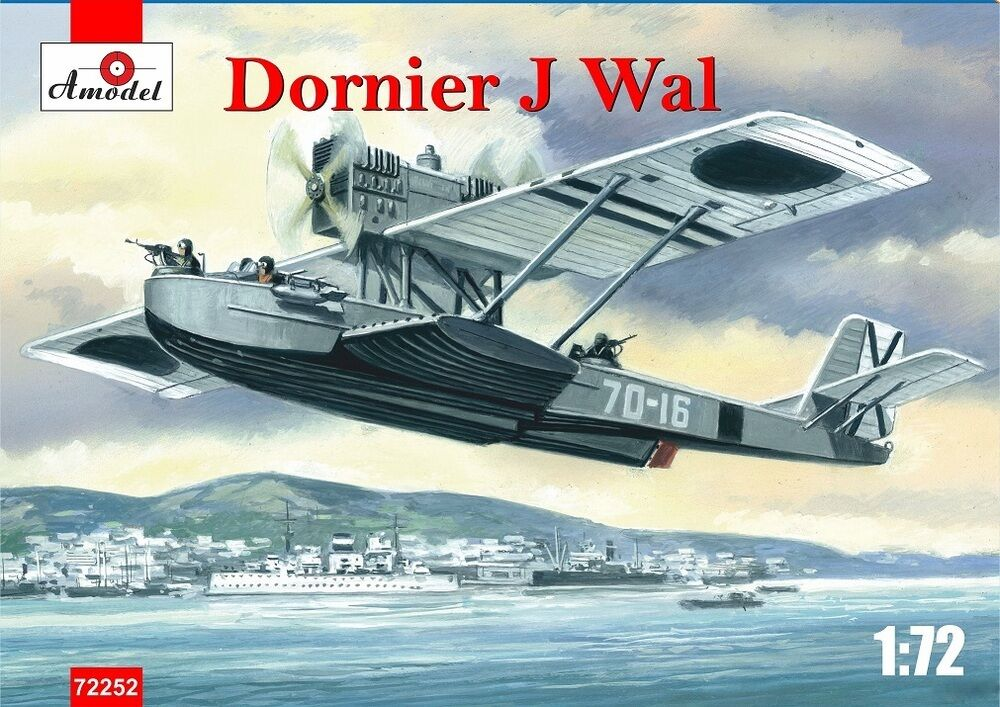 PLASTIC MODEL BUILDING AIRPLANE DORNIER J WAL SPAIN WAR 1 72 AMODEL 72252