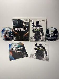Call of Duty: Black Ops and Modern Warfare 3 MW3 (Nintendo Wii) Game Lot Bundle