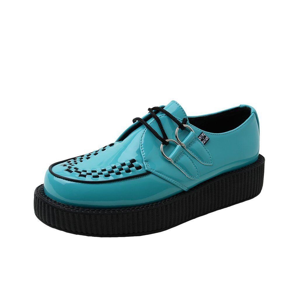 T.U.K. Av9016 Viva Tuk Schuhes Teal Patent Viva Av9016 Creepers  Light Blau Vegan 9f9484