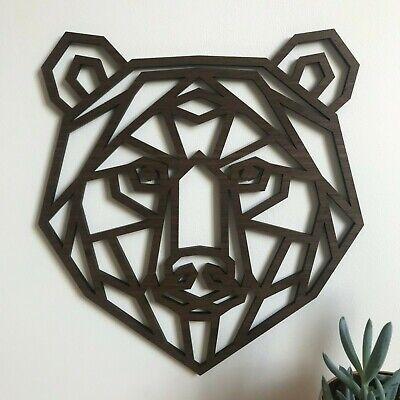 Géométrique Panda Head Wall Art-Home Decor Kids Nursery Chambre À Coucher Décoration