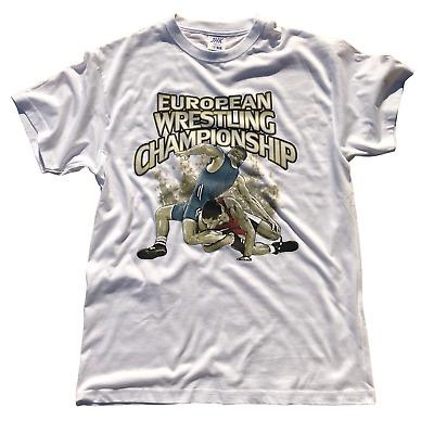 Black Wrestling T-Shirt Ringer T-Shirts Tee Sport Lutte FREESTYLE