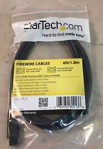 Startech 6 ft 1394b 9 Pin to 9 Pin Firewire 800 Cable M//M