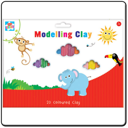 Different Colours Pack of Modelling Clay Plastercine x 20 Strips