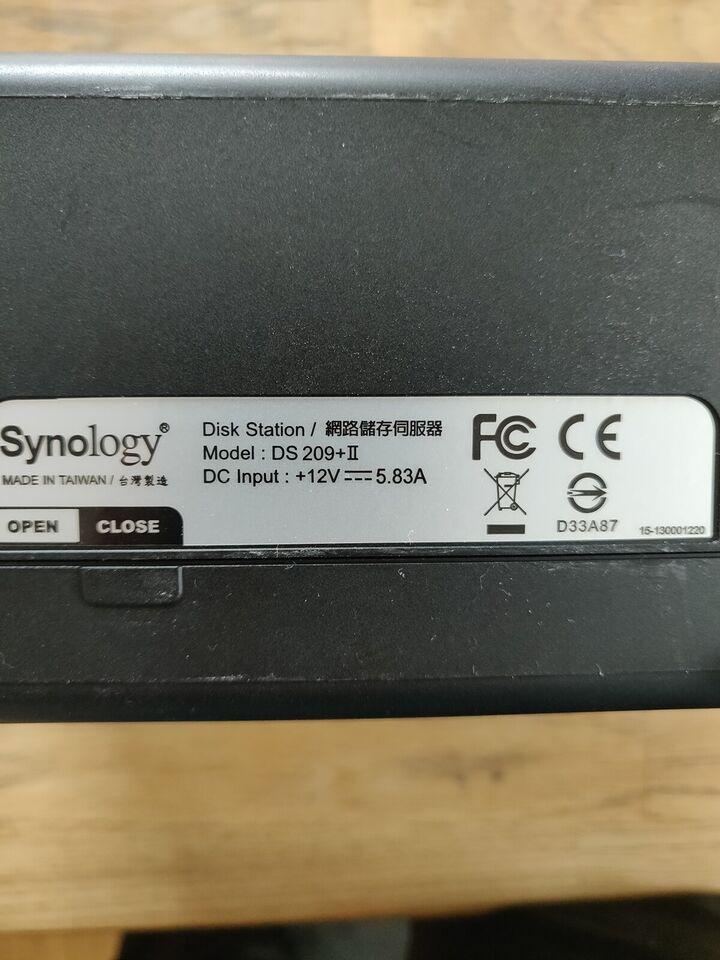 Synology DS209+II NAS, 2000 GB, God