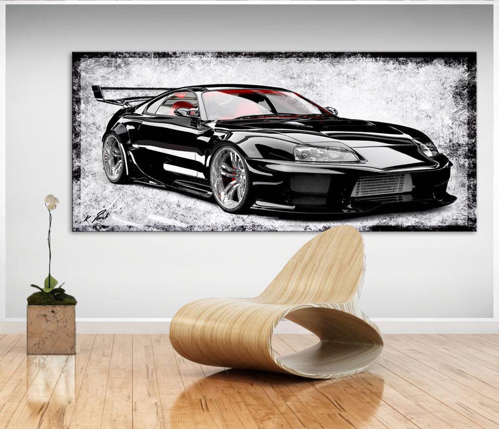 Wandbilder Auto Sportwagen Bild Leinwand Abstrakte Kunst Bilder Kunstdruck D1164