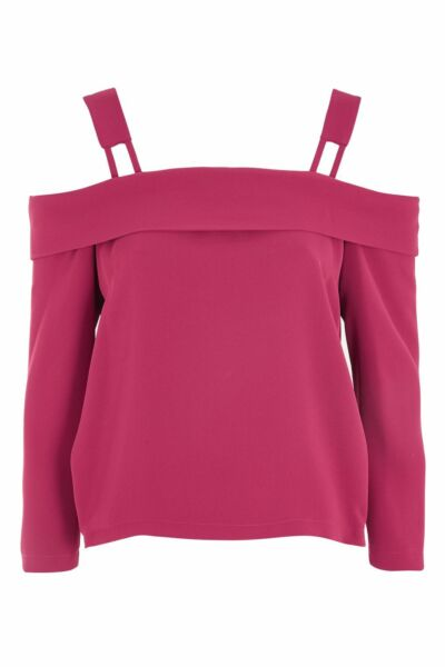 3d583fcefc2 Bnwt Topshop Off Shoulder Berry Red Tie Back Bow Bardot Style Top Size 14  Defect
