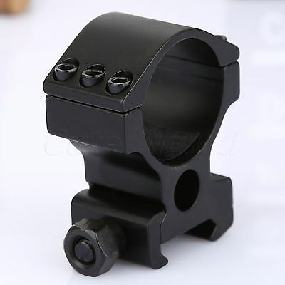 30mm High Profile 6 Screw Scope Mount Ring 20mm Weaver Rail for Rifle Flashlight