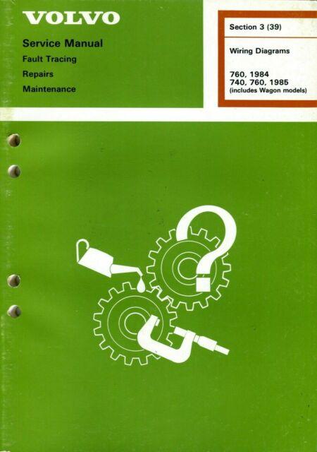 1984 Volvo 760   1985 740 760   Wiring Diagrams Service