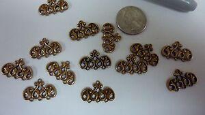 Victorian-brass-castings-findings-triple-connector-dangle-earrings-jewelry-A127