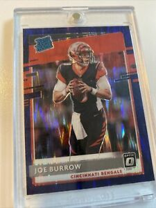 Joe Burrow 2020 Donruss Optic Purple Shock Prizm RATED ROOKIE #151 - Bengals RC