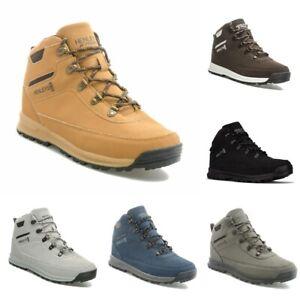 Men/'s Henleys DLX Travis Lace Up Walking Boots Shoes Hiker Tan Honey Faux Nubuck